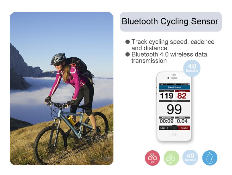 Bluetooth Wireless Cycling Speedometer Cadence Sensor Bike Computer